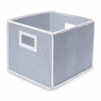 Folding Nursery Basket/Storage Cube - Blue Gingham