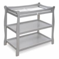 Sleigh Style Changing Table - Gray