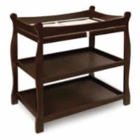 Sleigh Style Changing Table - Espresso