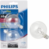 Philips DuraMax 60-Watt Candelabra Base G16 Globe Light Bulbs