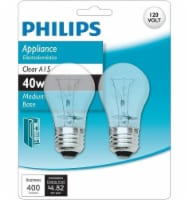 Philips 40-Watt Medium Base Appliance A15 Light Bulbs