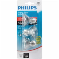 Philips 50-Watt GU10 Halogen Flood Light Bulbs - 3 pk