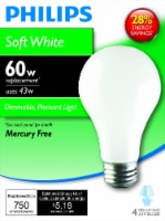 Philips EcoVantage 43-Watt (60-Watt) Medium Base A19 Light Bulbs