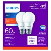 Philips 10-Watt (60-Watt) A19 LED Light Bulbs - 2 pk
