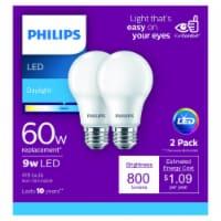 Philips 9-Watt (60-Watt) A19 LED Light Bulbs - 2 pk