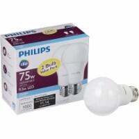 Philips 75W Equivalent Daylight A19 Medium LED Light Bulb (2-Pack) 463000