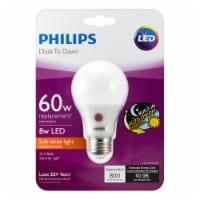 Philips Dusk To Dawn 8-Watt (60-Watt) A19 LED Light Bulb - 1 ct