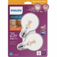 Philips 2pk 25w G25 E26 Led Bulb 536540