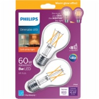 Philips 8-Watt (60-Watt) A19 LED Light Bulbs