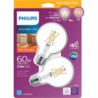 Philips 5.5-Watt (60-Watt) Medium Base Globe G25 LED Light Bulbs