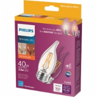 Philips 3.3-Watt (40-Watt) Medium Base Bent Tip Candle LED Light Bulbs