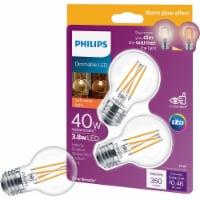 Philips 3.8-Watt (40-Watt) Medium Base Globe G16.5 LED Light Bulbs