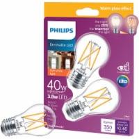 Philips 3.8-Watt (40-Watt) Medium Base Ceiling Fan A15 LED Light Bulbs - 2 ct