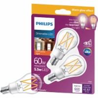Philips 2pk 60w E17 Wg Led Bulb 549006