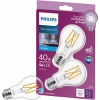Philips 40W Equivalent Daylight A19 Medium LED Light Bulb (2-Pack) 550228 - 1