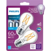 Philips 8-Watt (60-Watt) Medium Base Ceiling Fan A15 LED Light Bulbs