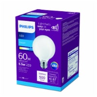 Philips 5.5-Watt (60-Watt) Medium Base Globe G25 LED Light Bulb