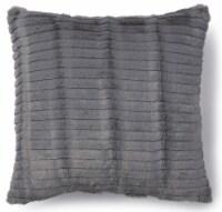 Brentwood Originals Cut Plush Fur Decor Pillow - Gray