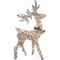 Good Tidings LED Rattan Standing Buck