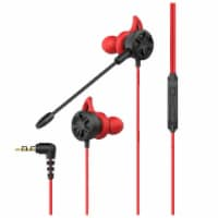 iLive Gaming Earbuds with Mic - Red