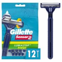 Gillette Sensor2 Lubrastrip Pivot Disposable Razors