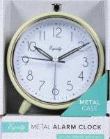 La Crosse® Technology Metal Tabletop Alarm Clock - Green