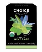 Choice Organics Mint Sage - 16 ct