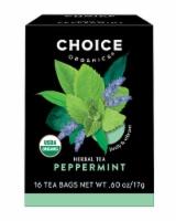 Choice Organic Peppermint Tea Bags