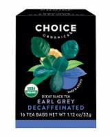 Choice Organics Decaffeinated Earl Grey Tea Bags - 16 ct
