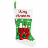 Holiday Home® Snoopy Stocking - Green/White/Red