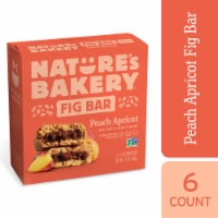 Natures Bakery Whole Wheat Peach Apricot Fig Bars - 6 ct / 2 oz
