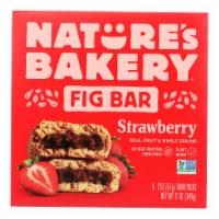 Nature's Bakery Stone Ground Whole Wheat Fig Bar - Strawberry - Case of 6 - 2 oz.