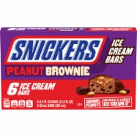 Snickers Peanut Brownie Ice Cream Bars 6 Count