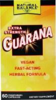 Natural Balance Extra Strength Guarana Vegetarian Capsules - 60 ct