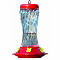 Audubon-Woodlink Swirl Glass Hummingbird Feeder 16 Ounce Red