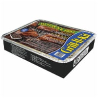 Marsh Allen Grill-It-Kit Charcoal 12.25 in. W Silver Disposable Grill