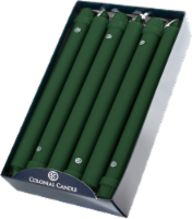Colonial Candle® Classic Taper Candle - Evergreen