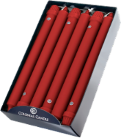 Colonial Candle® Classic Taper Candle - Red
