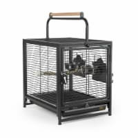 Prevue Pet 48081013076 Wrought Iron Travel Bird Cage, 18 x 14.25 x 14 in.