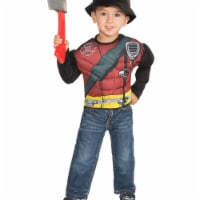 Imagine 274614 Fire Fighter Muscle Chest Shirt Set - One Size