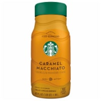 Starbucks Iced Caramel Macchiato Chilled Espresso Coffee Beverage 40 oz Bottle