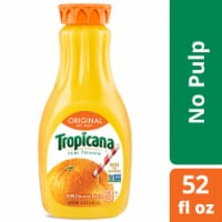 Tropicana Orange Juice No Pulp 52 oz Bottle