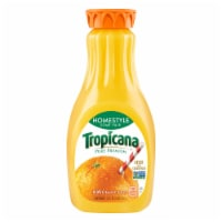 Tropicana Orange Juice Homestyle Some Pulp 52 oz Bottle