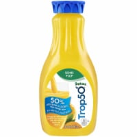 Tropicana Trop50 Orange Juice Some Pulp with Calcium + Vitamin D 52 oz Bottle