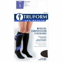 Truform Leg Health Firm Medical Compression Stockings - Black