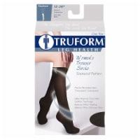 Truform Leg Health Moderate Diamond Pattern Women's Compression Trouser Socks - Black