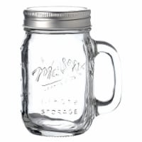Mason Glass Jar with Lid and Handle