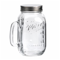 Mason Craft & More Glass Jar with Handle and Lid - Clear