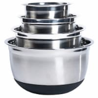 Tabletops Unlimited Stainless Steel Mixing Bowl Set with Silicone Base - 4 pc