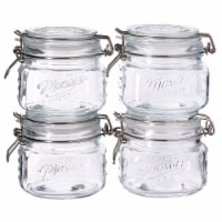 Tabletops Unlimited Glass Clamp Jar & Lid - 4 Pack - 16.9 oz